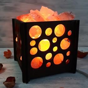 Светильник 'Пузыри' 2-3кг красная соль Пакистан 15x16x20см Ош