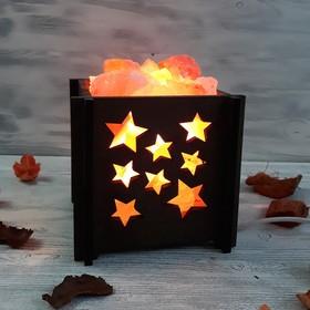Светильник 'Звезды мини' 1,4кг красная соль Пакистан 15x16x20см Ош
