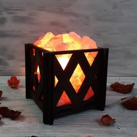 Светильник 'Ромб мини' 1,4кг красная соль Пакистан 15x16x20см Ош