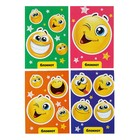"Notepad A6, 24 sheets on the clip Calligrata ""Smileys"", cardboard chrome-ersatz"
