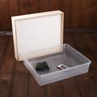 Планшет для Эбру с поддоном А4, 33х39 см фанера с цветной подсветкой и пультом