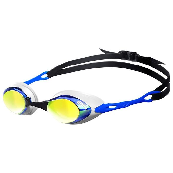 Очки для плавания ARENA Cobra Mirror, зеркальные линзы, белая оправа