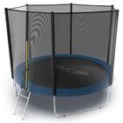 Батут с внешней сеткой и лестницей Evo Jump External, диаметр 10ft (305 см), цвет синий
