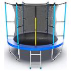 Батут с внутренней сеткой и лестницей Evo Jump Internal, диаметр 8ft (244 см), цвет синий