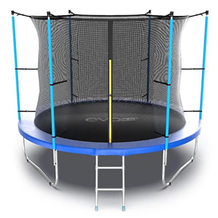 Батут с внутренней сеткой и лестницей Evo Jump Internal, диаметр 10ft (305 см), цвет синий