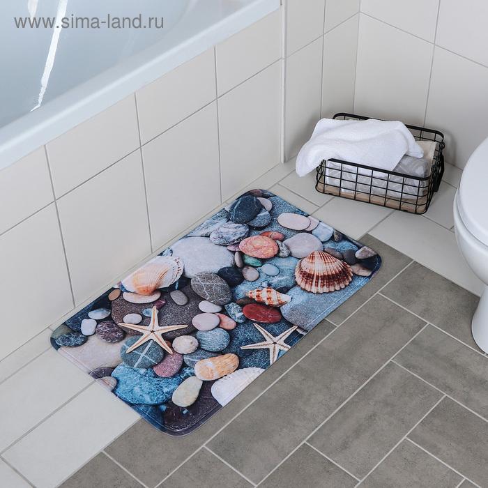 "Bath Mat ""Shells on the rocks"""