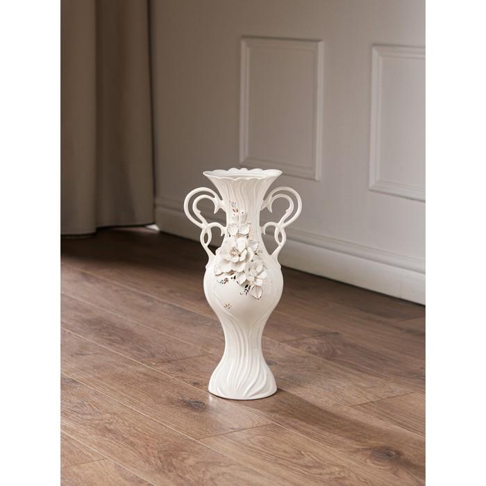"""Ваза напольная """"Жасмин"""", лепка, золотистый декор, 40 см, микс, керамика - фото 815566"""