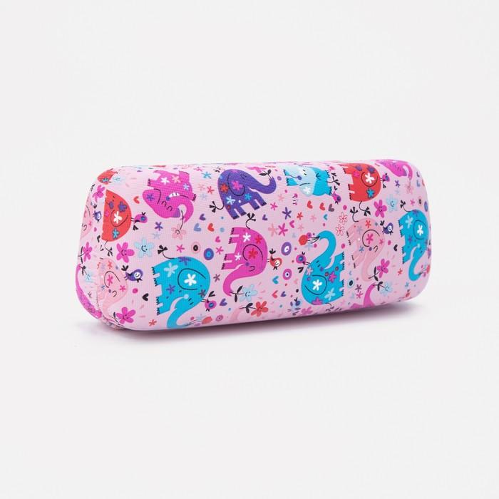 Футляр для очков, 16 × 4 × 6 см, цвет розовый
