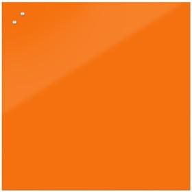 Доска магнитно-маркерная стеклянная 100 100 LUX, внутр крепл, цв морковный  S100100 28338e7535b