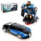 Машина-трансформер «Автобот», световые и звуковые эффекты, работает от батареек, цвета МИКС