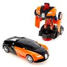 Машина «Автобот», трансформируется, световые и звуковые эффекты, работает от батареек, цвета МИКС - фото 1013091