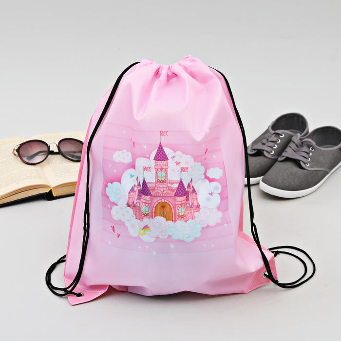 "Сумка-рюкзак для обуви ""Замок чудес"", 43 х 38 см"
