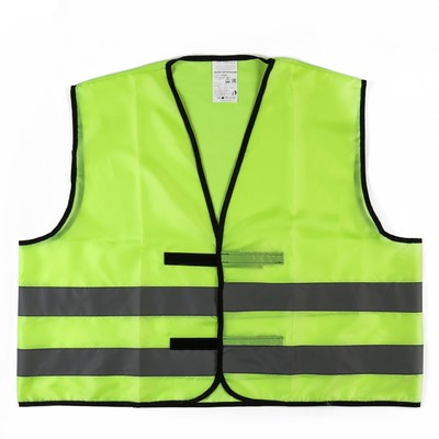 High-visibility jackets, reflective, 210 g/sqm, light green, GOST