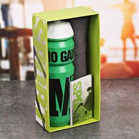 Набор «GYM»: бутылка для воды 800 мл, полотенце, блокнот