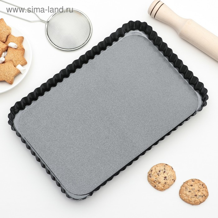 """Baking """"Jacqueline. Corrugated box"""" with a removable bottom, non-stick coating"""