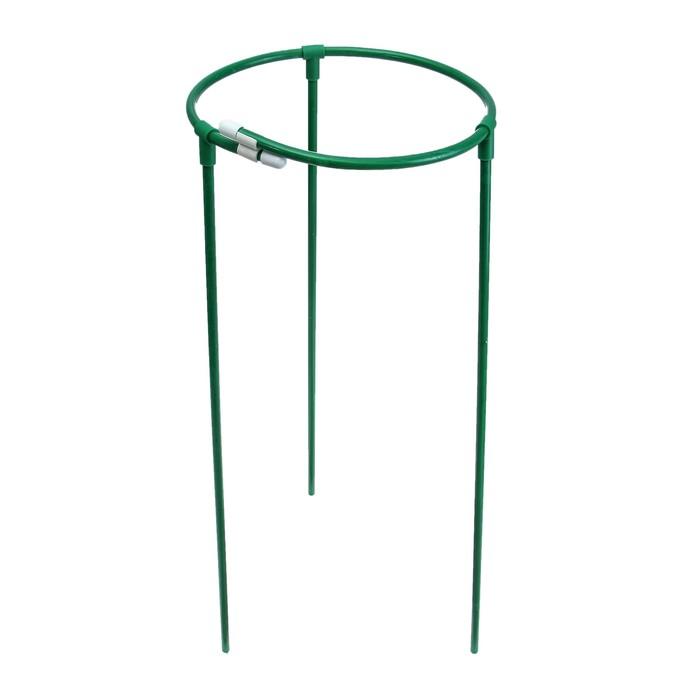 Кустодержатель, d = 30 см, h = 70 см, ножка d = 1 см металл, зелёный