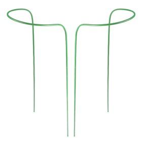 Кустодержатель, d = 30 см, h = 120 см, ножка d = 1 см, металл, набор 2 шт., зелёный, парный