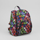 Рюкзак молодёжный, отдел на молнии, наружный карман, принт квадраты разноцветные