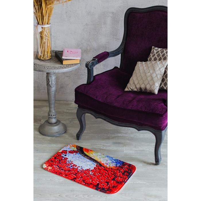 Коврик «Цветочное дерево», 38×58 см, цвет МИКС