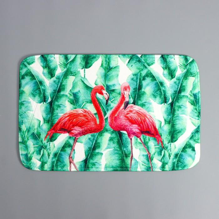 Коврик Доляна «Фламинго», 38×58 см - фото 740408