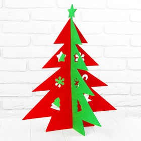 "A Christmas tree made from felt, the team ""Star"" size 33*3*40 color green-red"