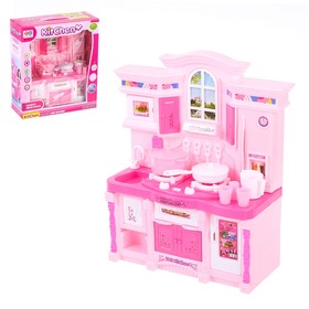 Игровой набор «Стильная кухня», розовая, световые и звуковые эффекты