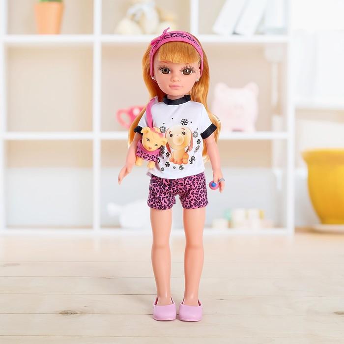 Кукла «Зоозащитница» с животным и переноской, высота 43 см, МИКС