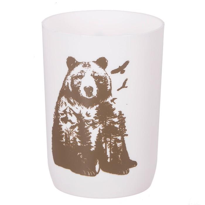 "Аксессуары для ванной комнаты стакан ""Медведь"", пластик"