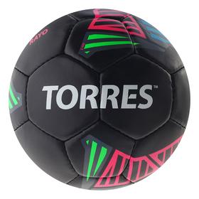 Мяч футб. 'TORRES Rayo Black' арт.F30725, р.5, 32 панели. PU, 4 под. слоя, руч. сшив., черно   36949 Ош