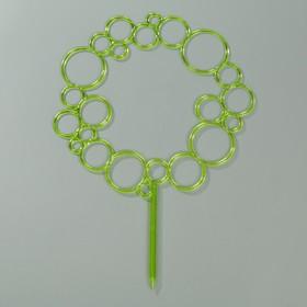 Диадема-поддержка для растений 45 см, цвет зелёный