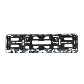 License plate frame for a license plate, Camouflage gray
