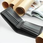 Портмоне мужское, 2 отдела, для кредиток, цвет коричневый - фото 59421