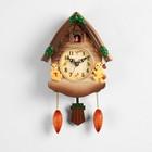 """Часы настенные с кукушкой """"Мишки в домике"""""""