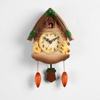"Wall clock with cuckoo series: the Kids, ""Bears in the house,"" 33х19 cm plastic"