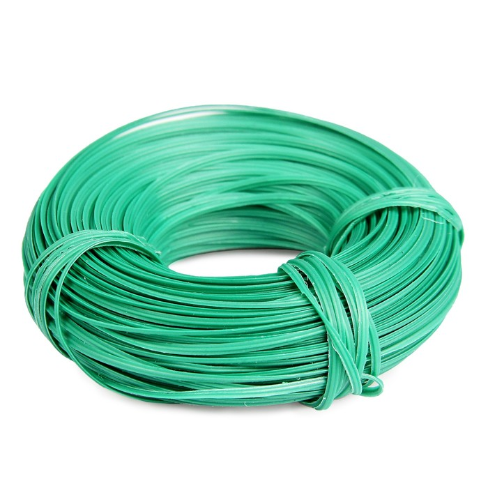 Проволока подвязочная, 50 м, толщина 2 мм, зелёная