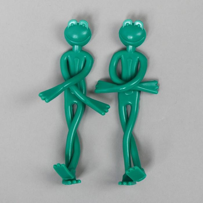 Подвязка для растений «Лягушка», набор 2 шт., зелёная