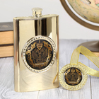 """Gift set """"Russia"""" flask of 300 ml, a medal"""