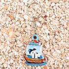 "Keychain wooden ""Sevastopol. The Seagull"", 3.5 x 4.6 cm"