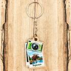 Брелок деревянный в форме фотоаппарата «Карелия», 3,3 x 5 см