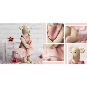 Игрушка–малютка «Мишка Тото», набор для шитья, 21 × 14.4 × 0.8 см