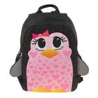 """Рюкзак школьный с эргономичной спинкой 35 х 28 х 13 см Ir's """"Загадка"""", розовый/чёрный"""