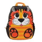 """Рюкзак школьный с эргономичной спинкой 35 х 28 х 13 см Ir's """"Тигрёнок"""", оранжевый/чёрный"""