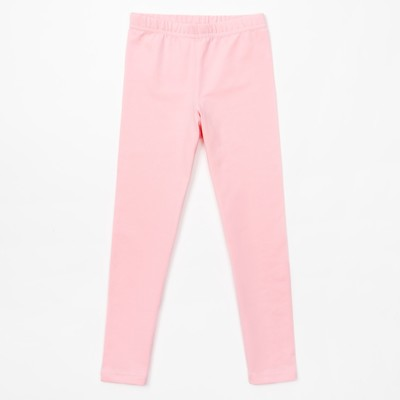 Брюки (леггинсы) для девочки, розовые, р-р 36 (134-140 см) 9-10л., 100% хлопок