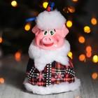 """Колокольчик """"Поросенок Дед-мороз"""", 16 см, микс"""