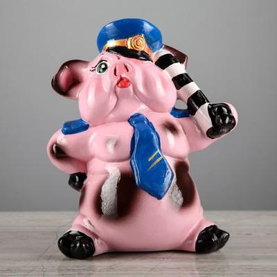 """Копилка """"Свин с жезлом"""", глянец, 24 см, микс"""