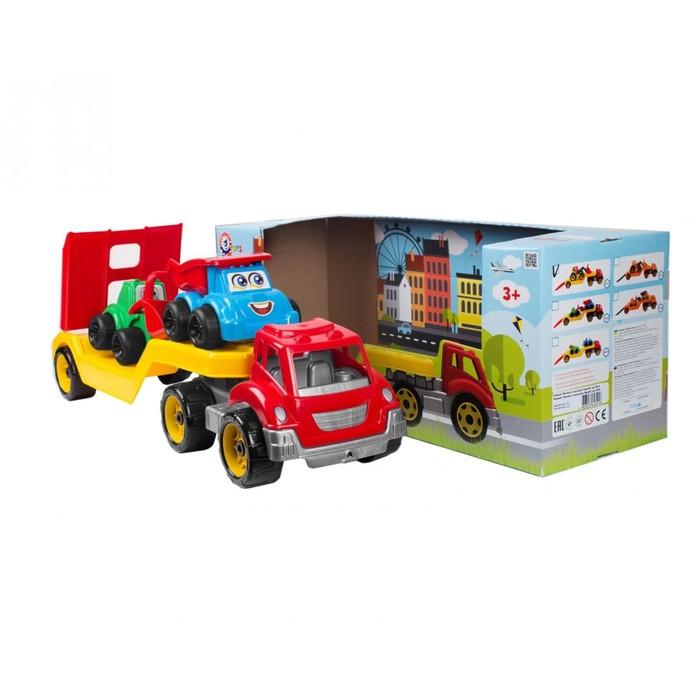 Игрушка «Автовоз со стройплощадкой ТехноК» - фото 76287615