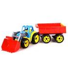 Игрушка «Трактор с ковшем и прицепом Технок»