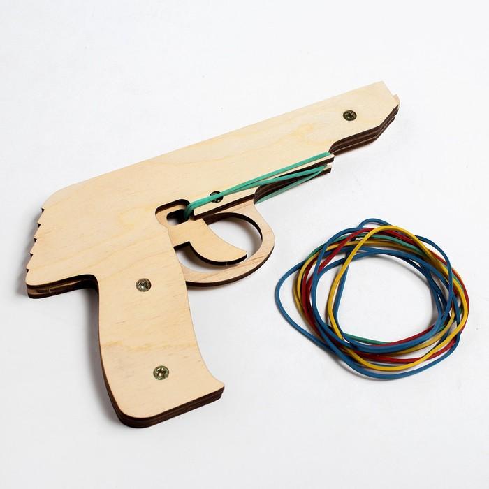 Пистолет - резинкострел «Оружие массового увеселения» 10 резиночек