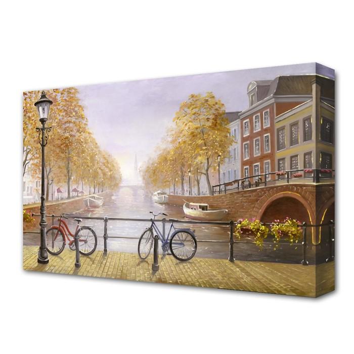 """Картина на холсте """"Припаркованные велосипеды"""""""