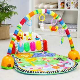 Развивающий коврик музыкальный «РазвивайКа», с пианино